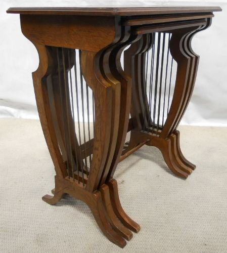 Strongbow Nest of Three Regency Style Mahogany Tables